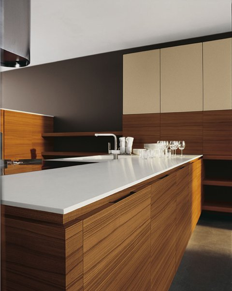 Cucina in teak con isola YARA - COMPOSIZIONE 4 By Cesar ...