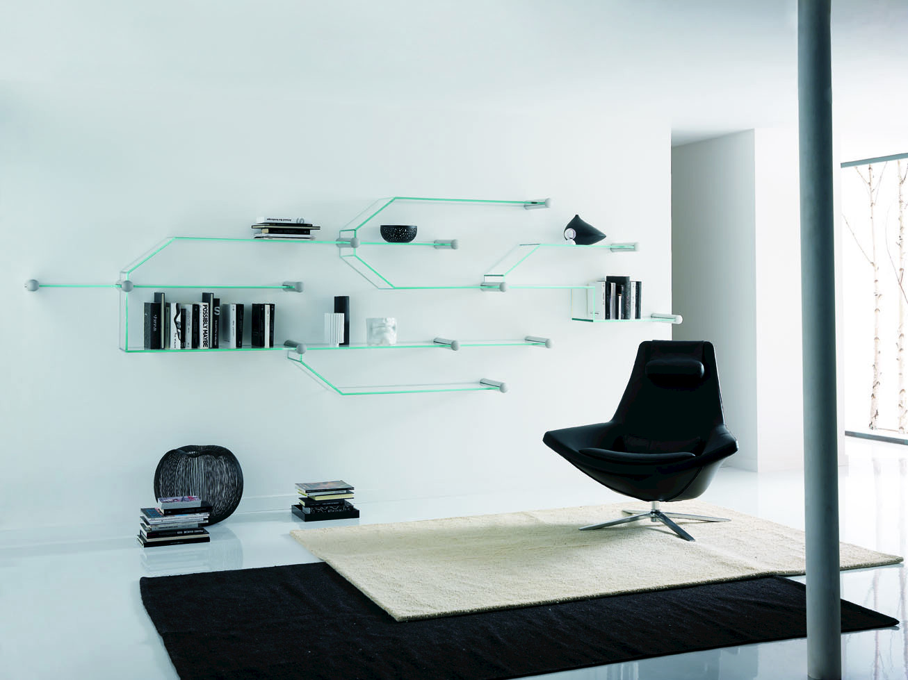 Wandregal design glas  Bücherregal / Wandregal aus Glas TRANSISTOR By Tonelli Design