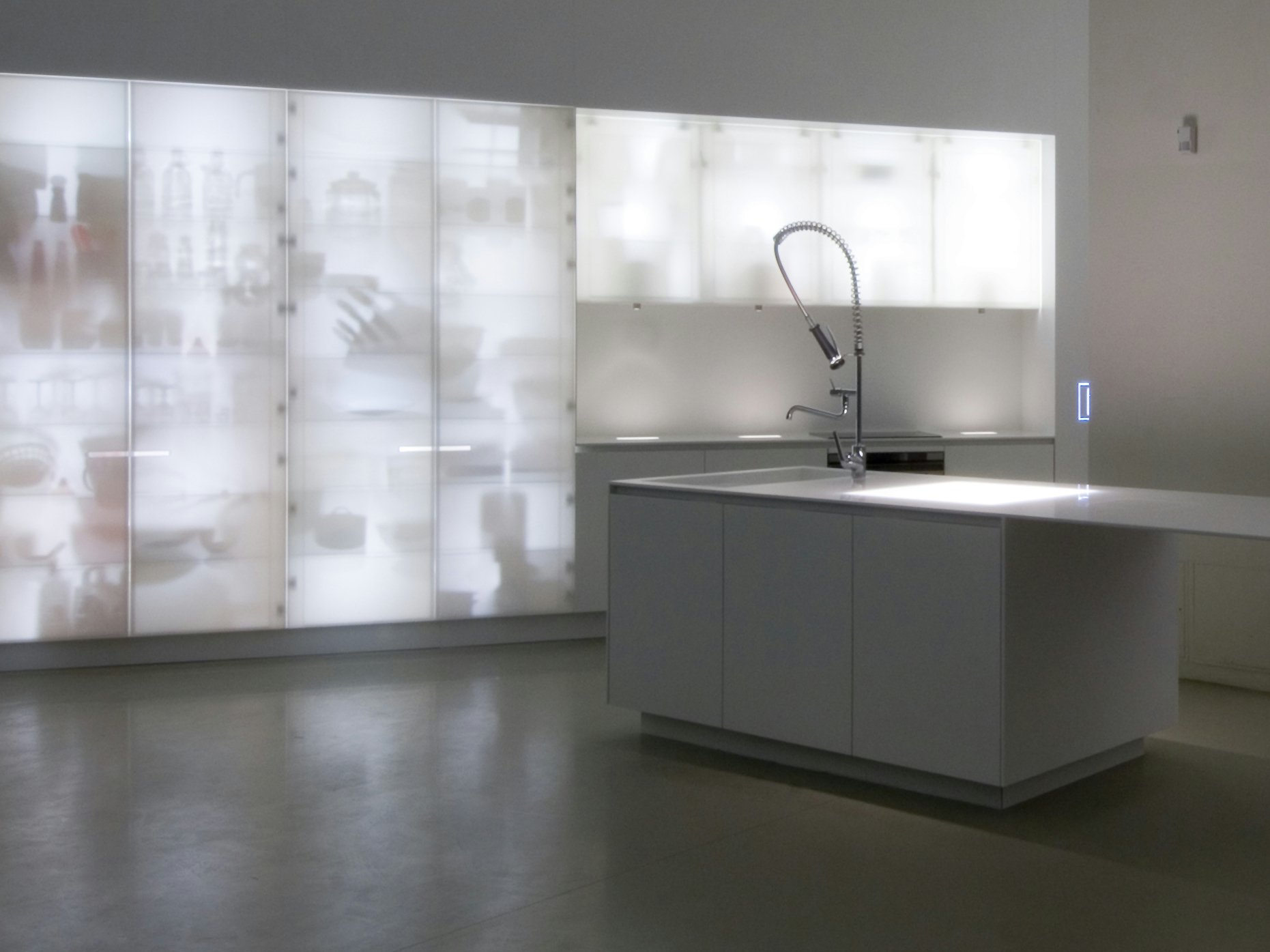 corian u00ae kitchen with island corian u00ae nouvel lumieres by in the wall storage cabinet in the wall spice cabinet