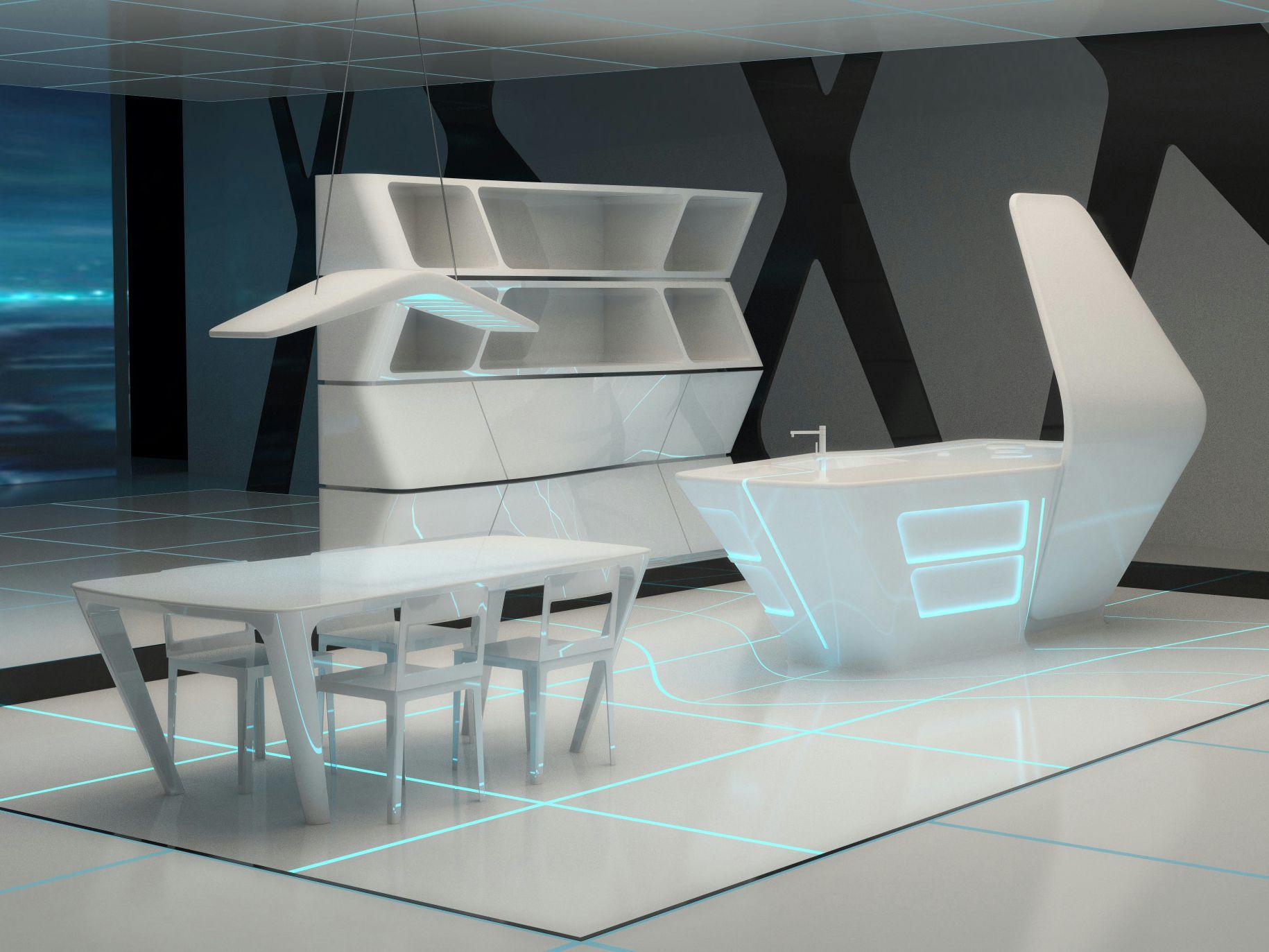 Corian® Kitchen With Island TRON DESIGNS CORIAN® By ERNESTOMEDA Design  AquiliAlberg