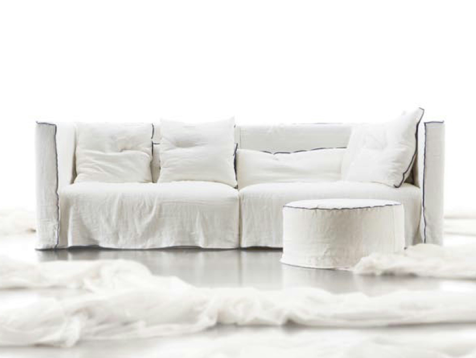 Sectional modular sofa SOMETHING by ERBA ITALIA design Giorgio Soressi
