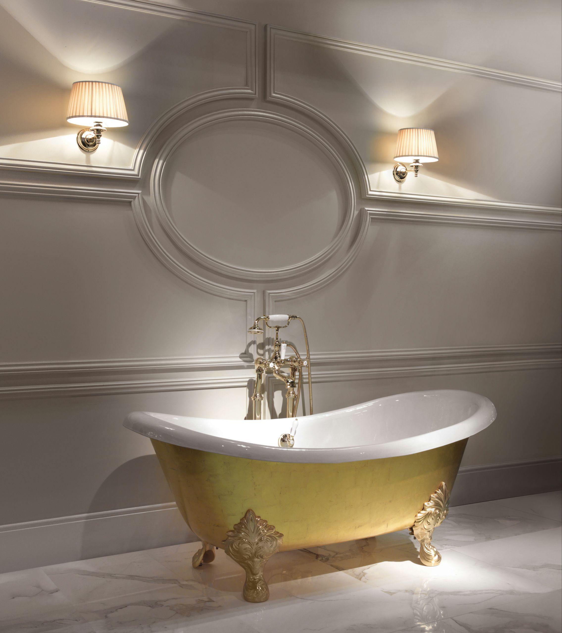 Gold leaf bathtub mida by devon devon - Bagno devon e devon ...
