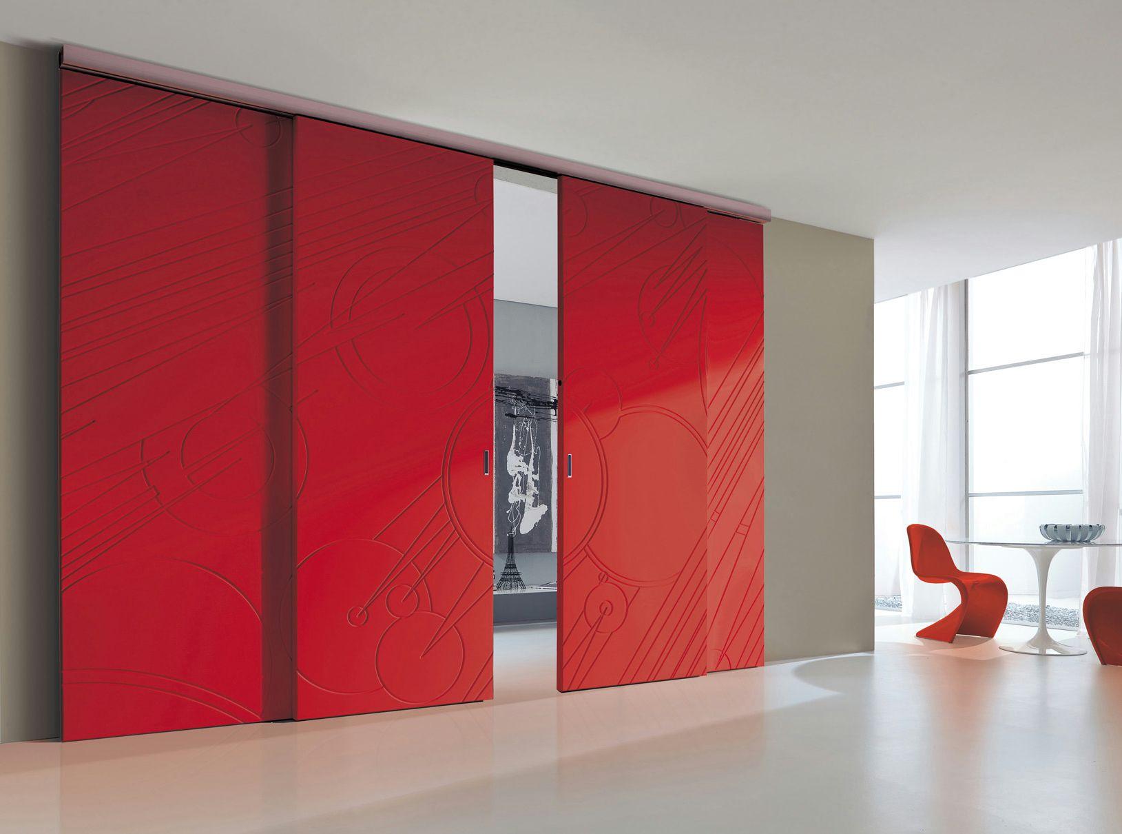 Porte laqu e coulissante costellazioni plana by bertolotto porte - Porte d interni design ...
