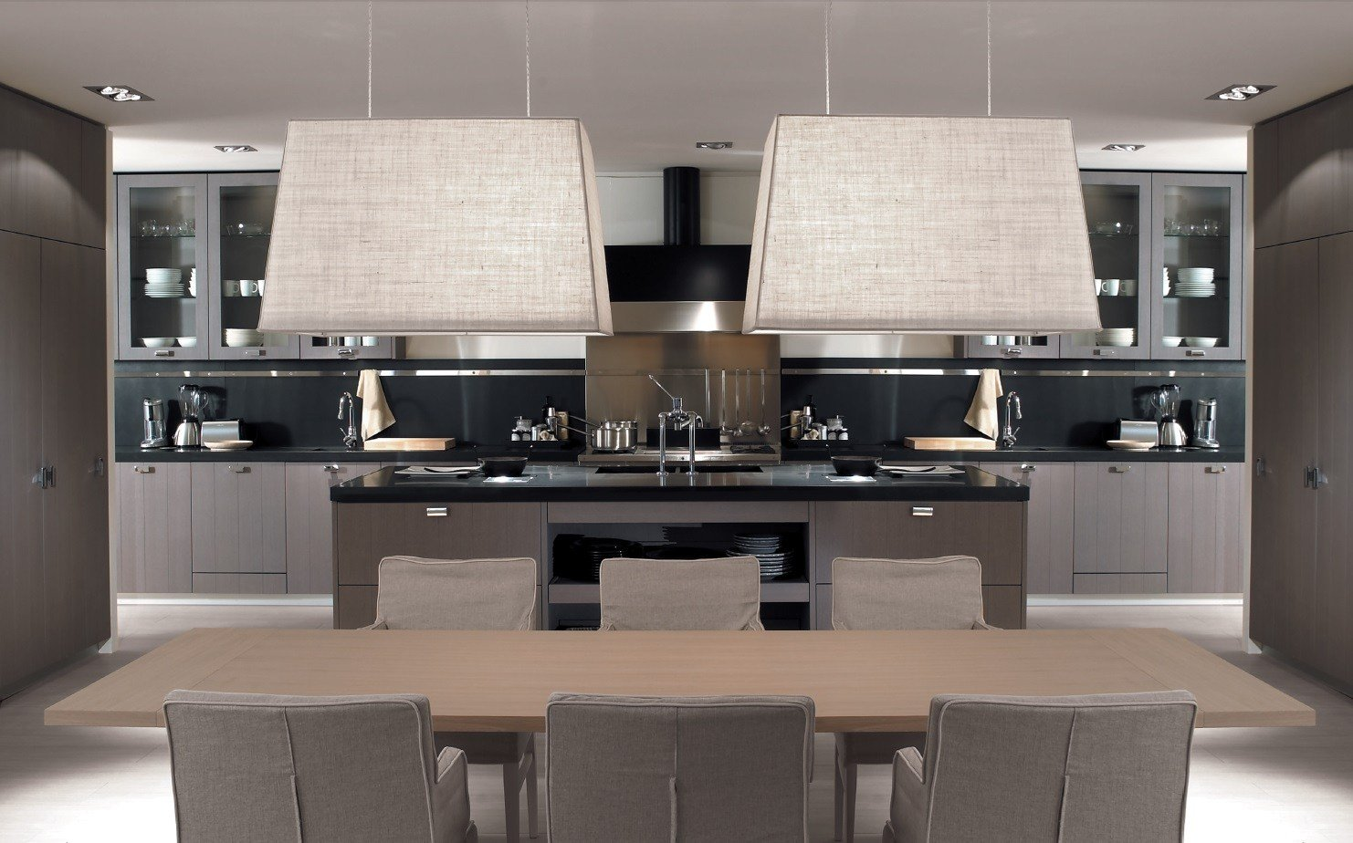 Beautiful Cucine Moderne Rovere Grigio Ideas - Ideas & Design 2017 ...
