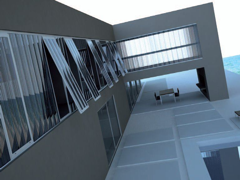 Arcoplus 324 polycarbonate continuous facade system by - Finestre in plexiglass ...