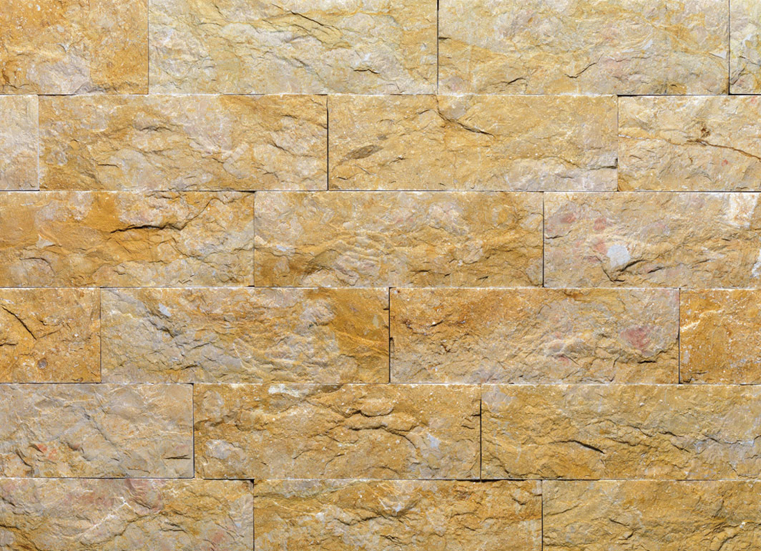 Giallo reale tr revestimiento de pared de piedra natural - Piedra para pared exterior ...