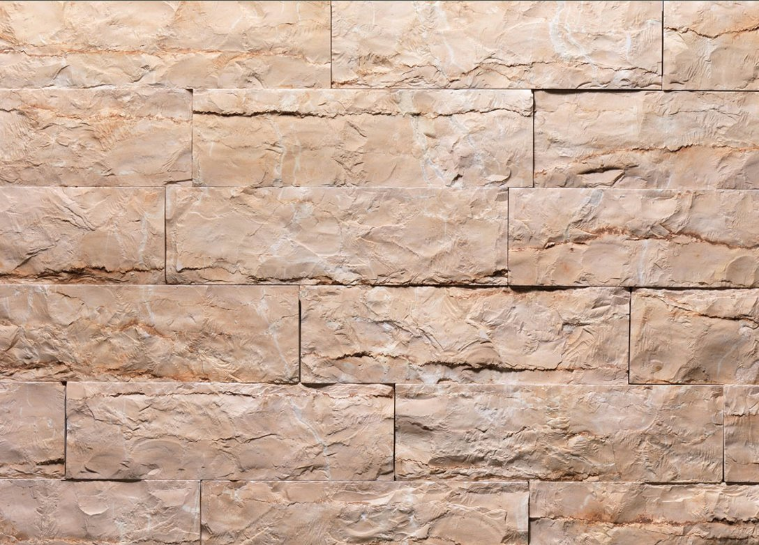 Rosa tr revestimiento de pared de piedra natural by b b - Piedra natural pared ...