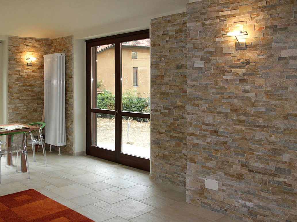 Scaglia rivestimento in pietra naturale by b b - Pietra naturale per rivestimenti interni ...