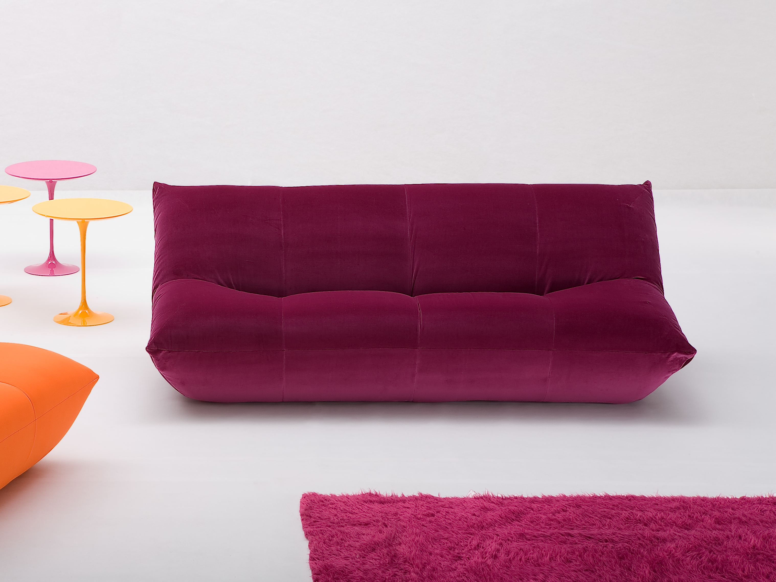 Sectional sofa with removable cover PAPILLON By Giovannetti design