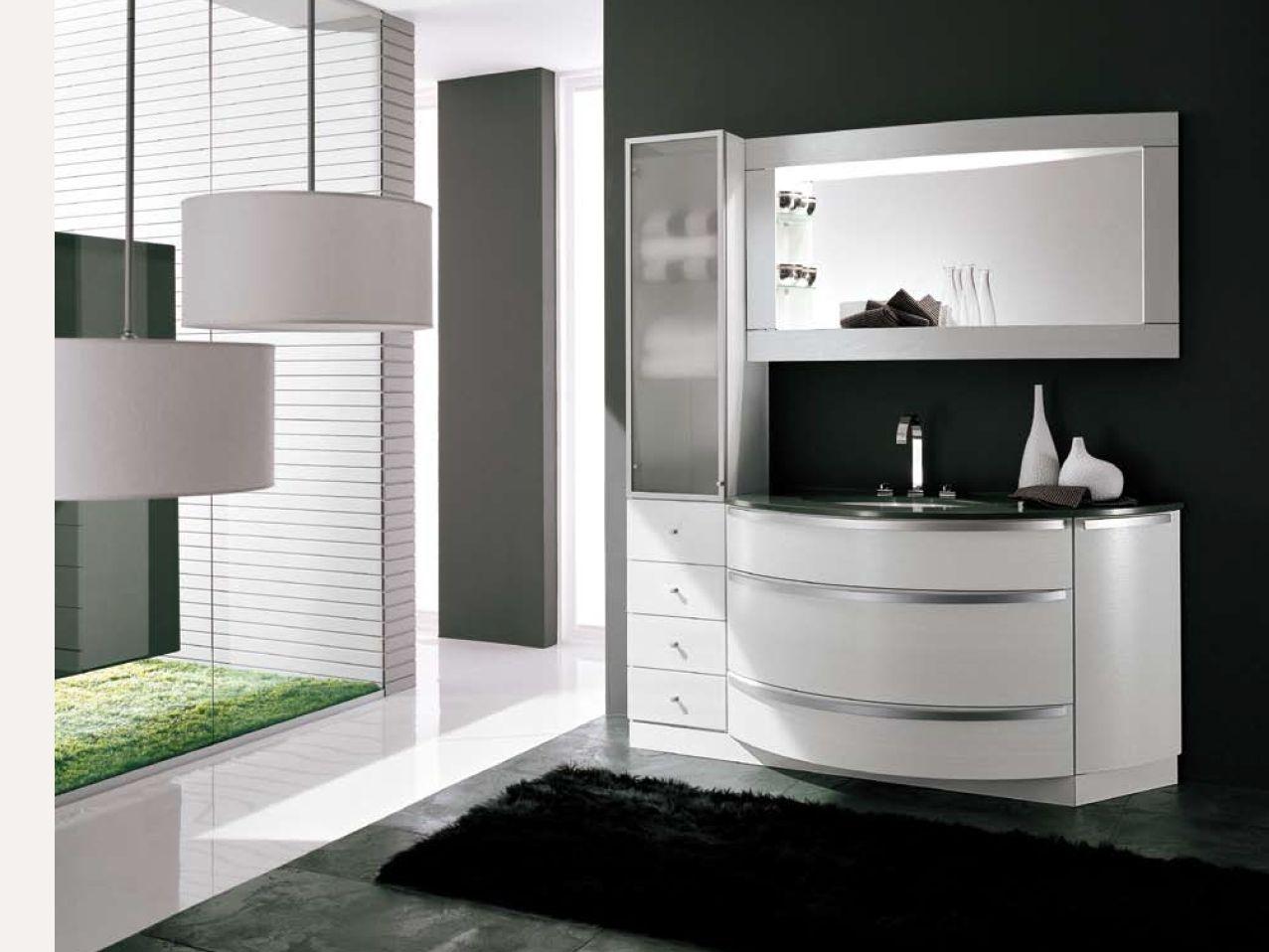 mobile lavabo con armadio con specchio ab 507 by rab arredobagno - Rab Arredo Bagno