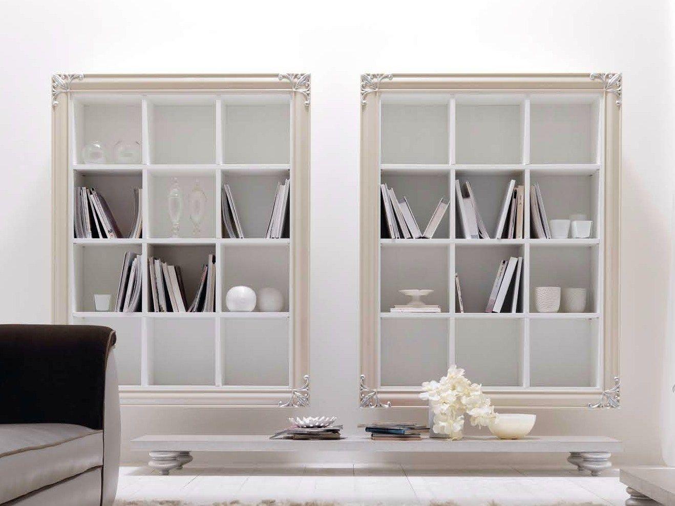 Gallery of libreria a giorno a parete sospesa in metallo for Librerie a basso costo