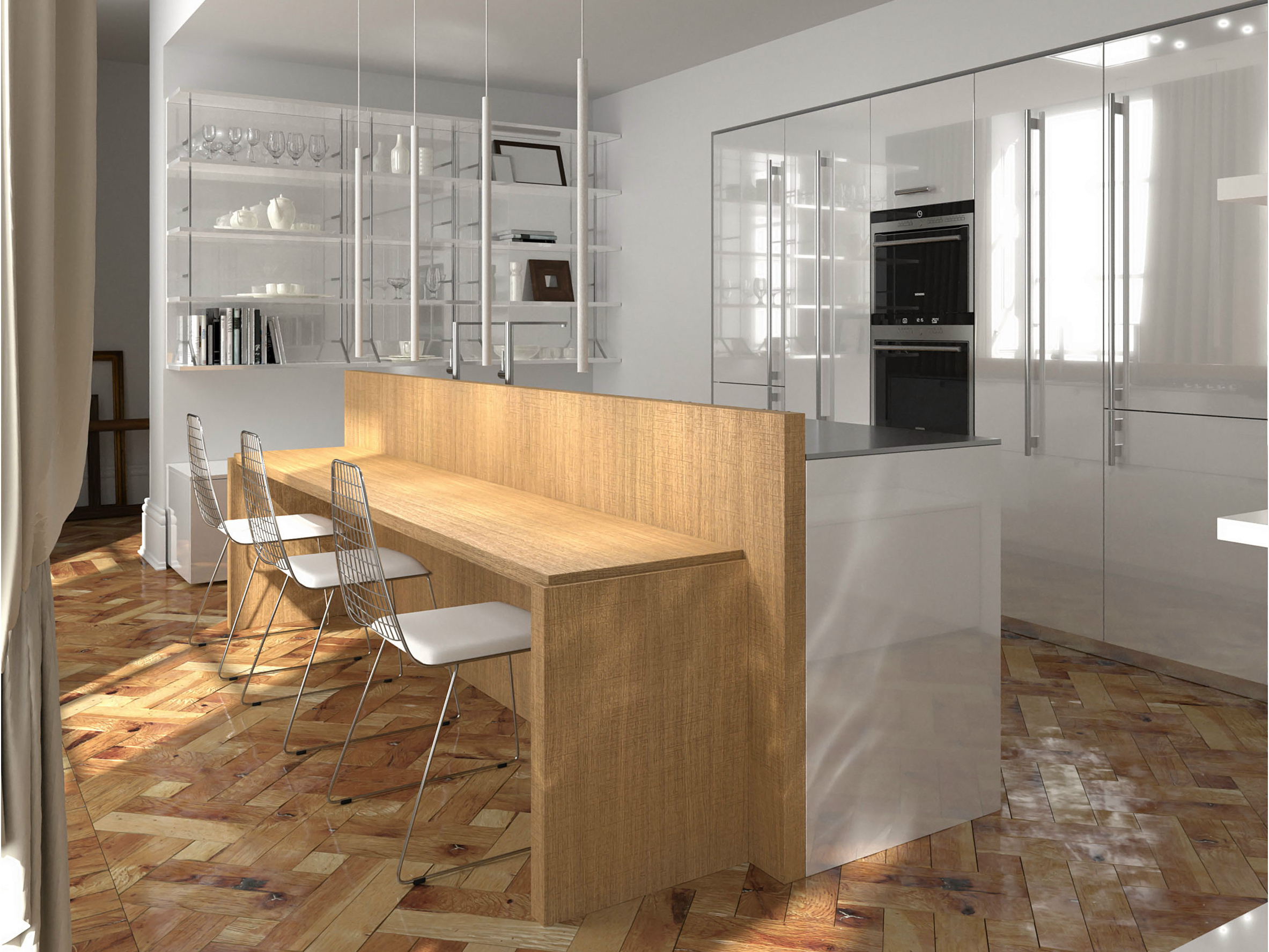 Cucina laccata in rovere NOBLESSE | Cucina in rovere seghettato By ...