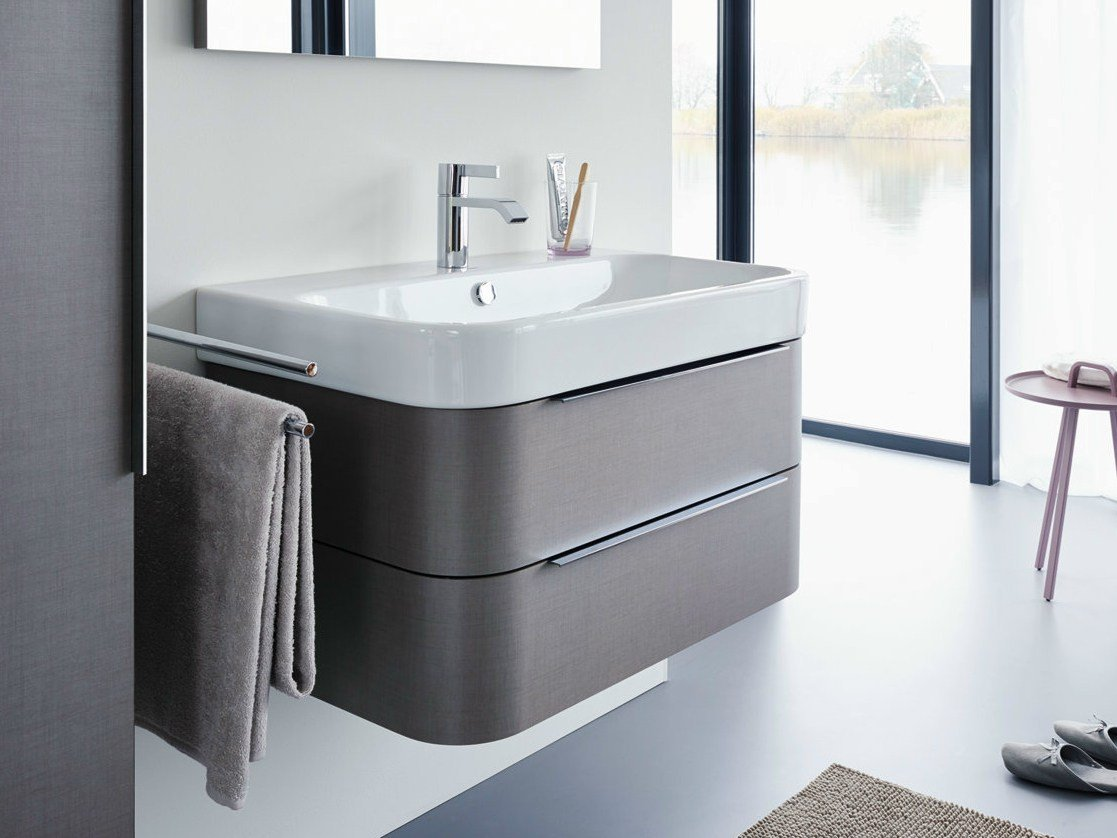 Happy d 2 vanity unit by duravit design sieger design for Design waschtischunterschrank