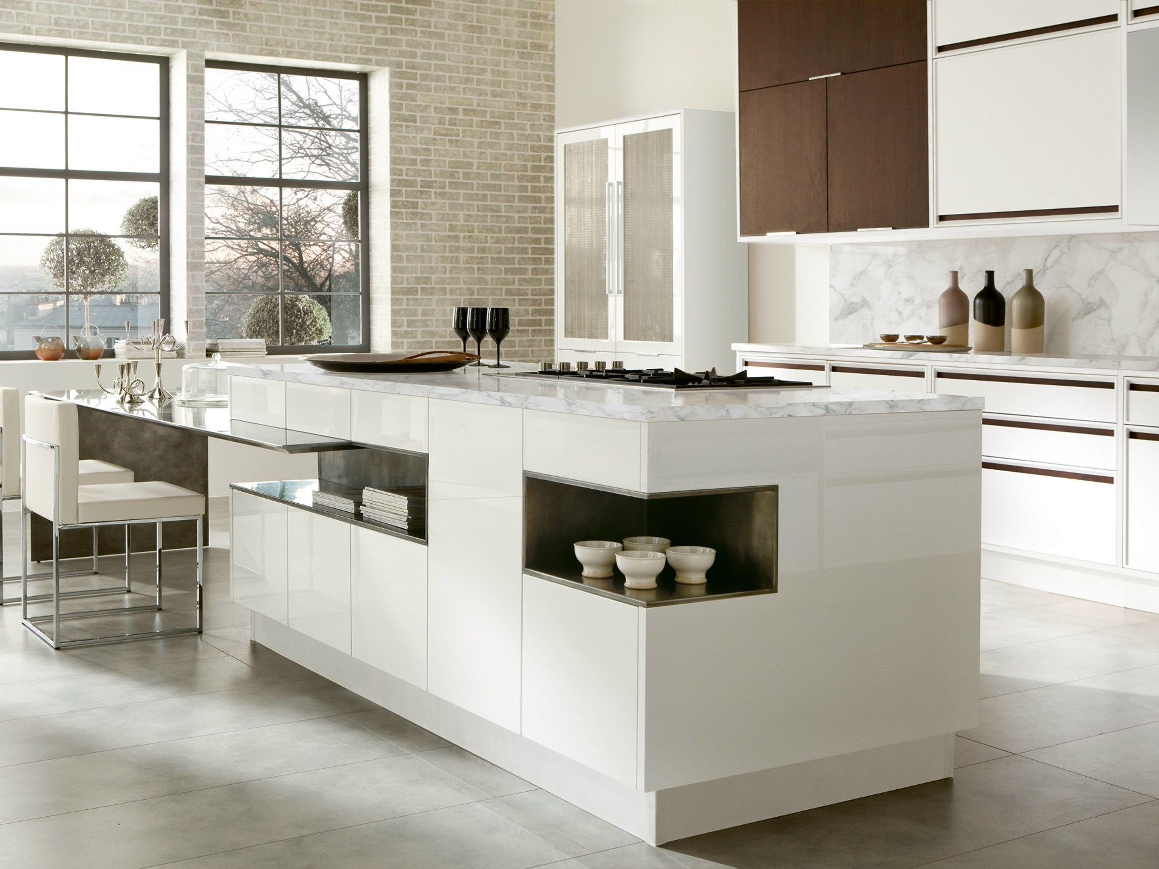Timeline cucina con isola by aster cucine s p a for Cucine in legno con isola