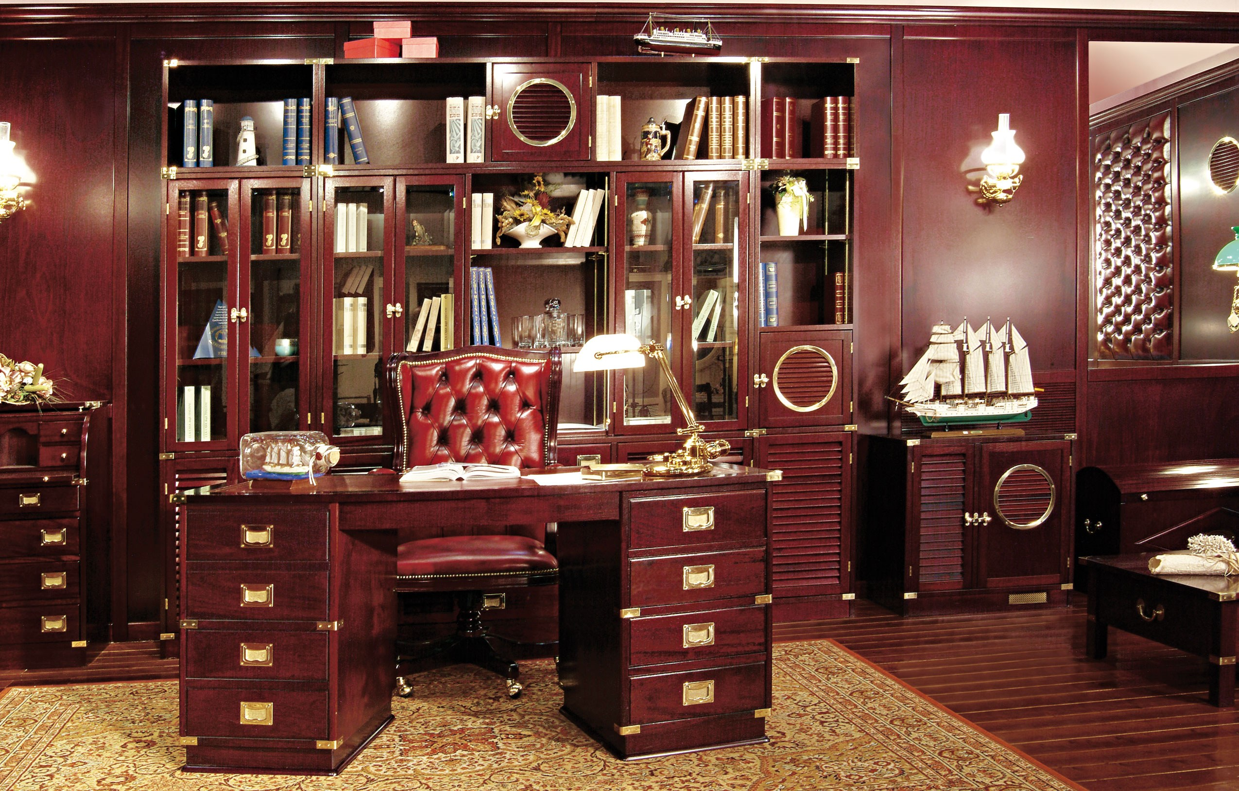 wooden office. wooden office c