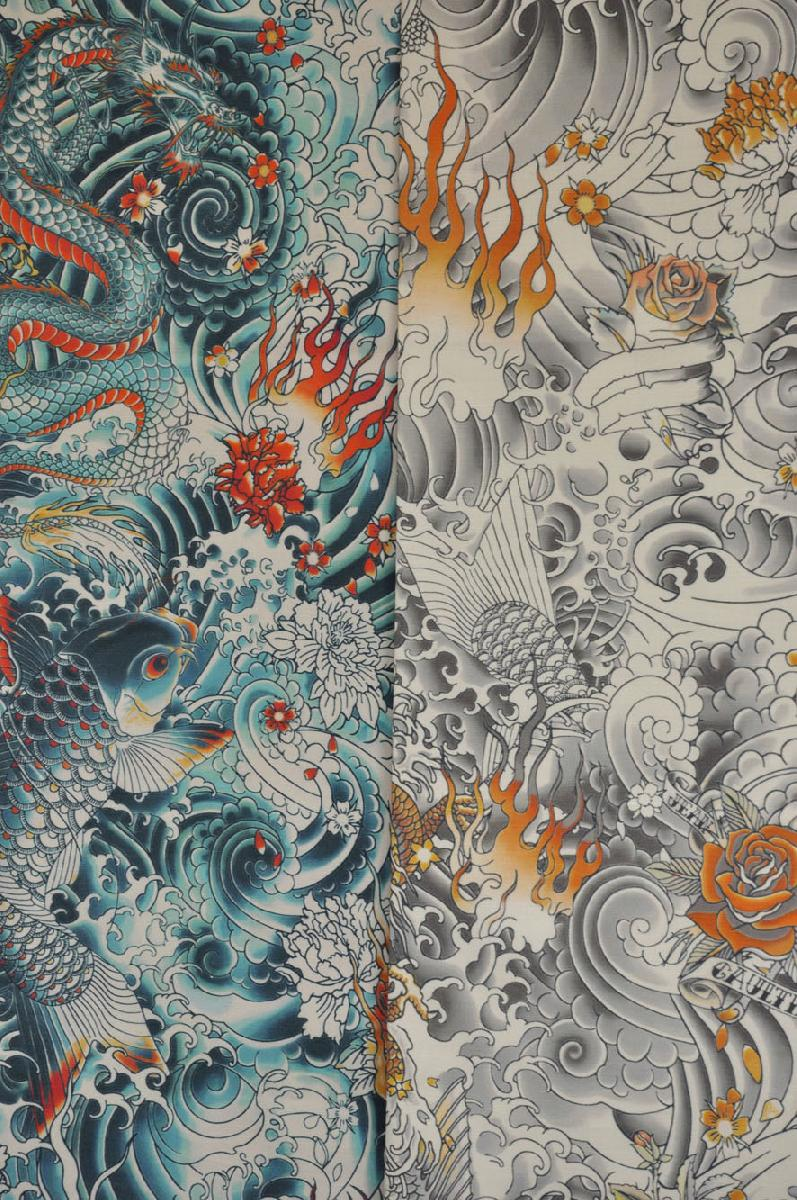 Tissu Jean Paul Gaultier tissu en coton rocklelievre design jean paul gaultier