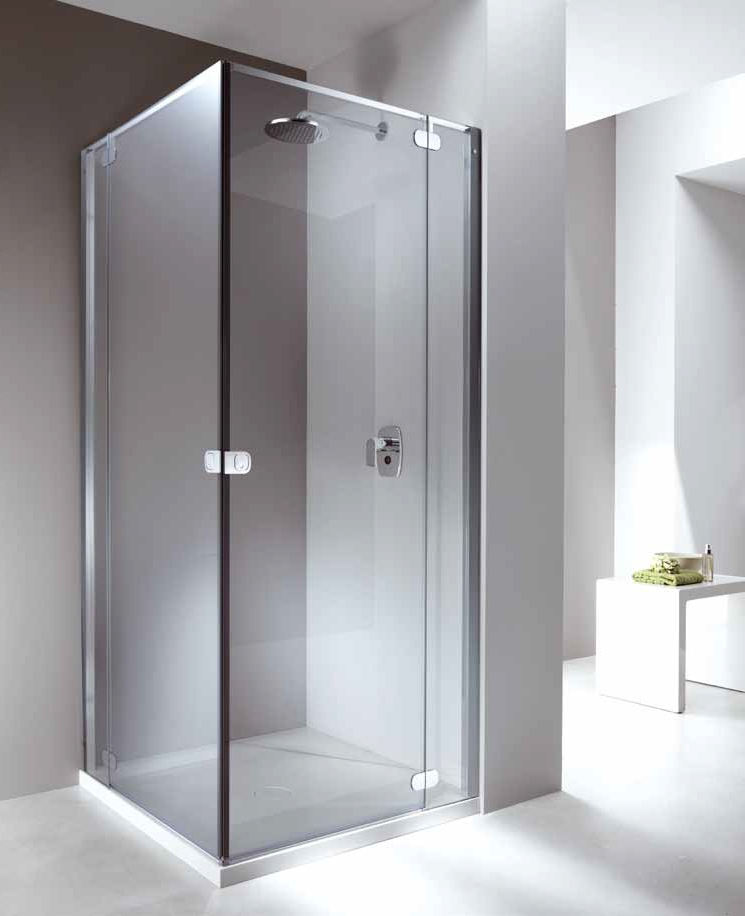 Wonderful Corner Shower Cabin With Tray With Hinged Door LOOK | Corner Shower Cabin  Look Collection By Provex Industrie