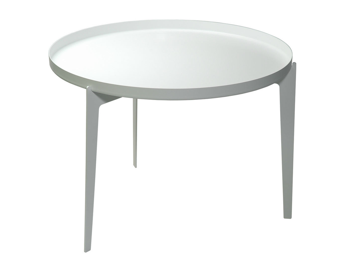 Charming Round Metal Tray Table Designs