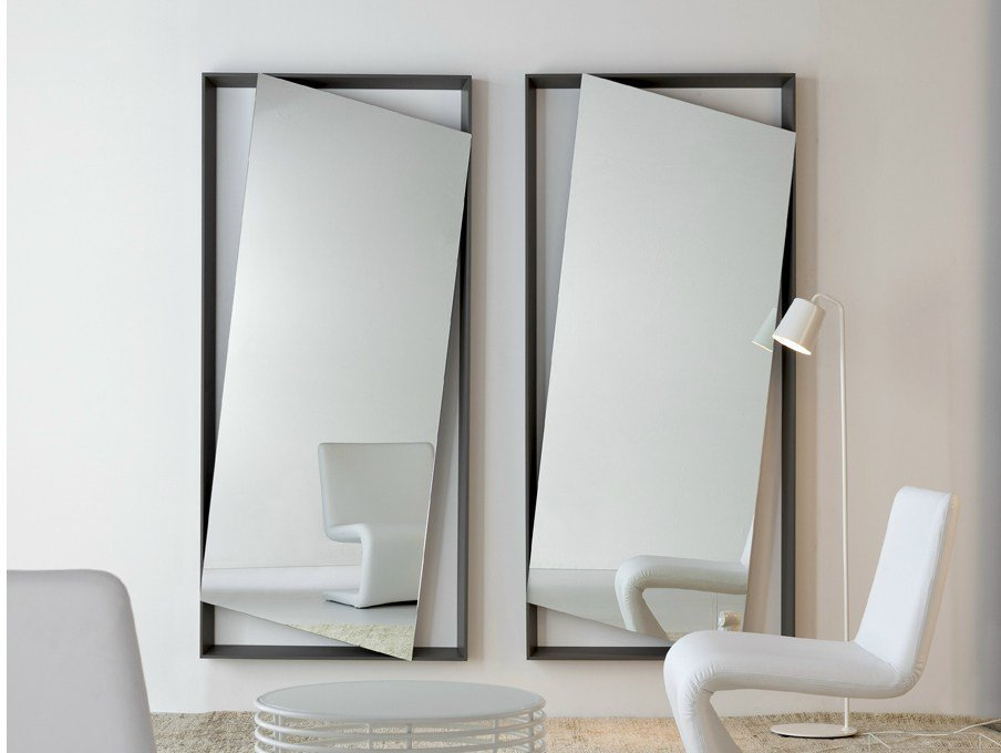 Wall mounted mirror hang up by bonaldo design andrea lucatello - Specchio lungo da parete ...