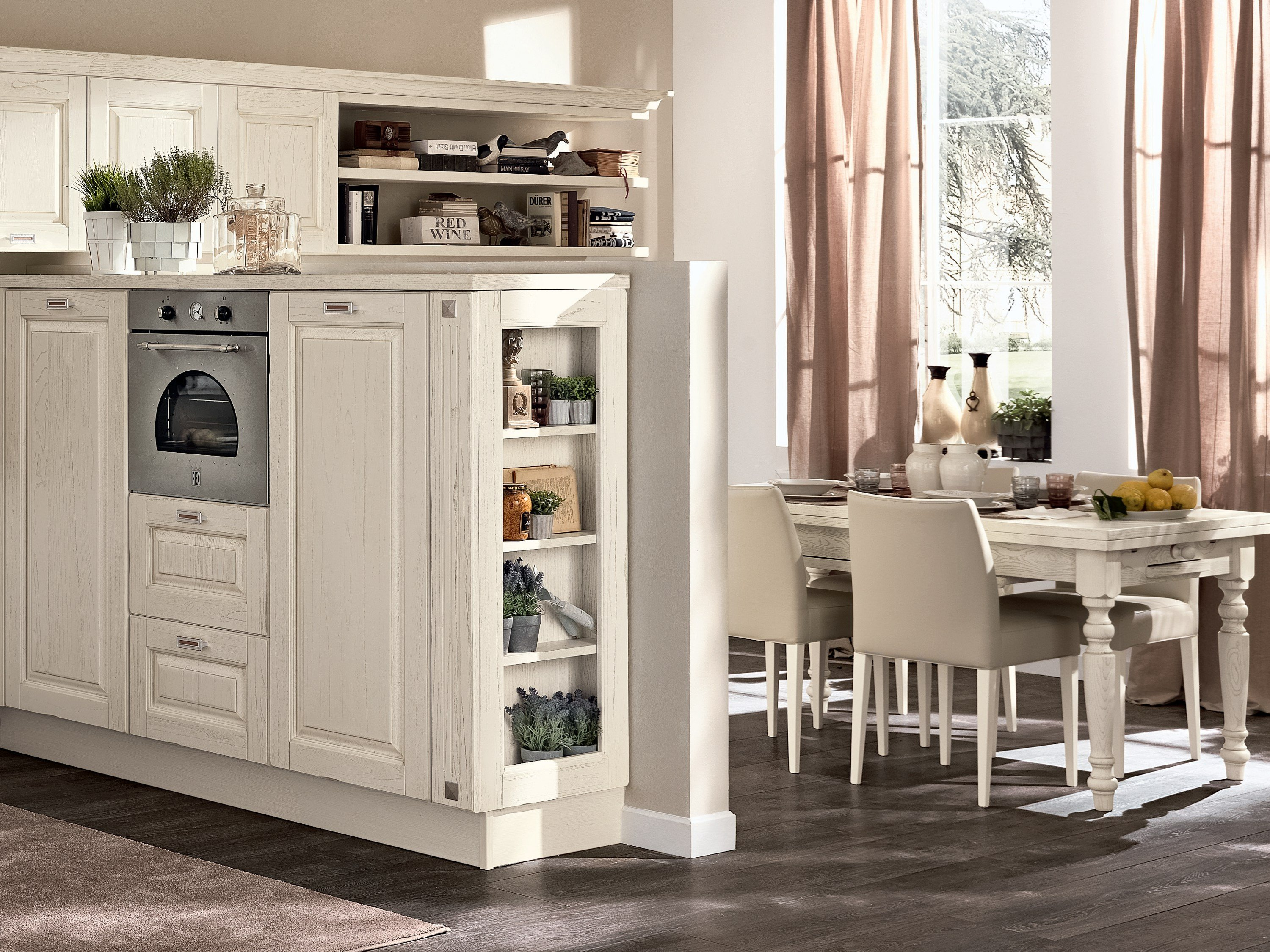 LAURA | Kitchen with handles By Cucine Lube