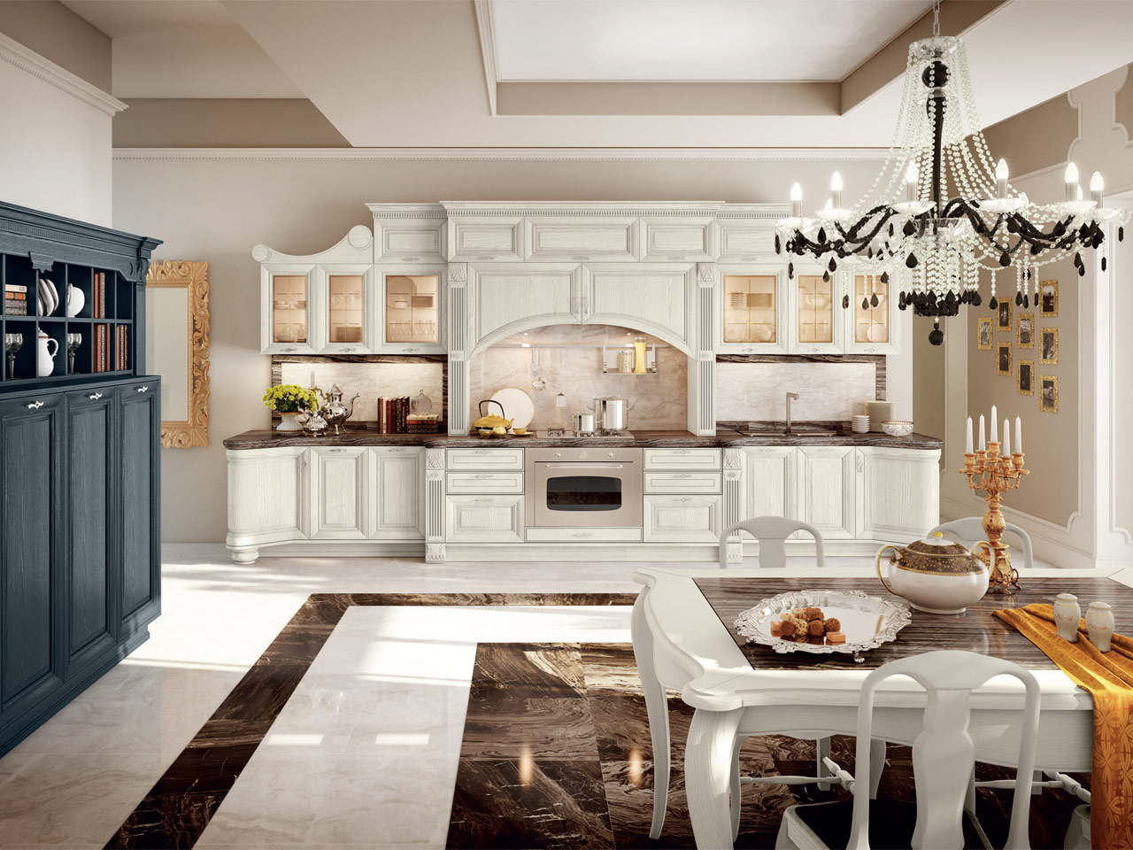 PANTHEON | Lacquered kitchen By Cucine Lube