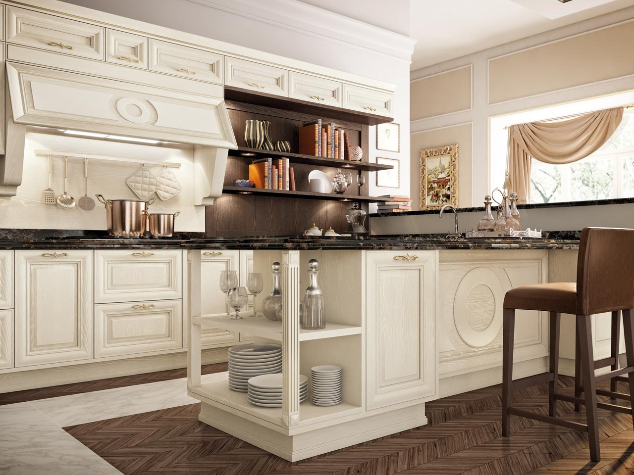 Pantheon kitchen by cucine lube - Cucine lube classiche prezzi ...