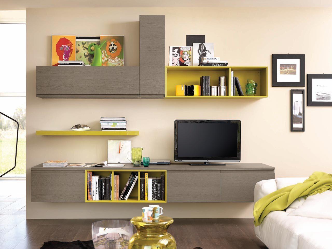 LINDA | Storage wall By Cucine Lube
