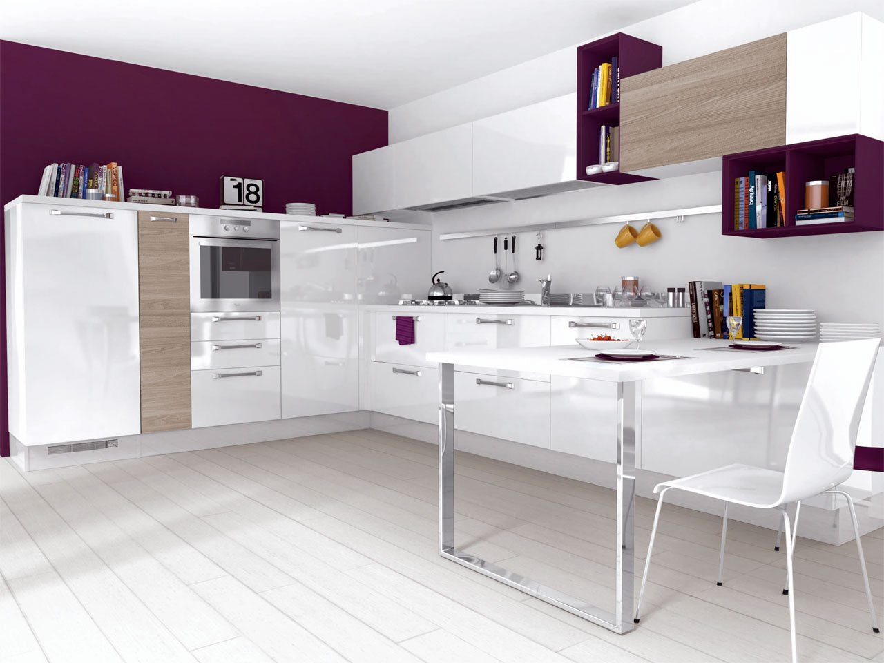 NOEMI | Kitchen with handles By Cucine Lube