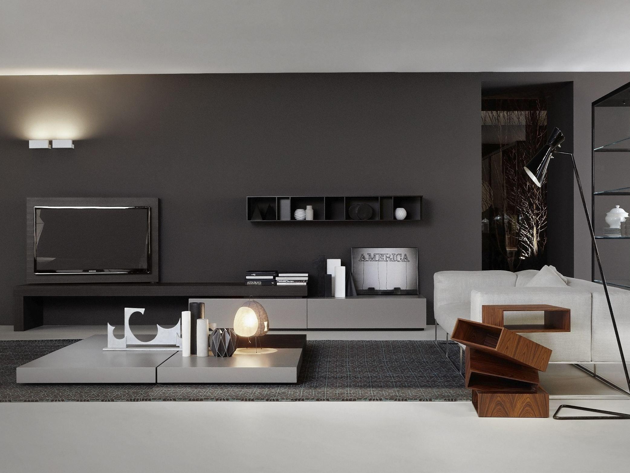 Tv sideboard modern  TV-Lowboard MODERN FLAG By Porro Design Piero Lissoni