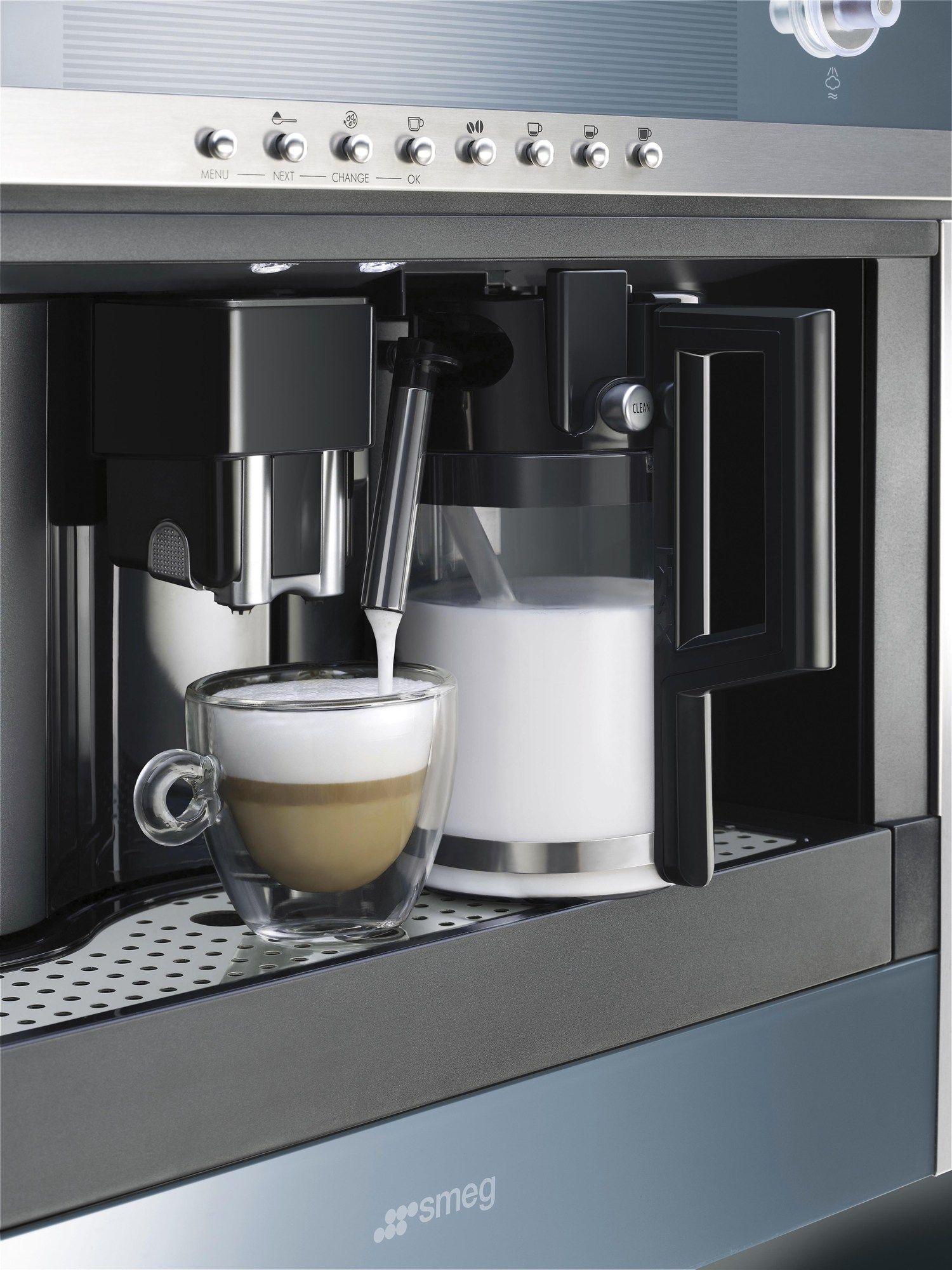 cmsc451 machine caf encastrable by smeg. Black Bedroom Furniture Sets. Home Design Ideas