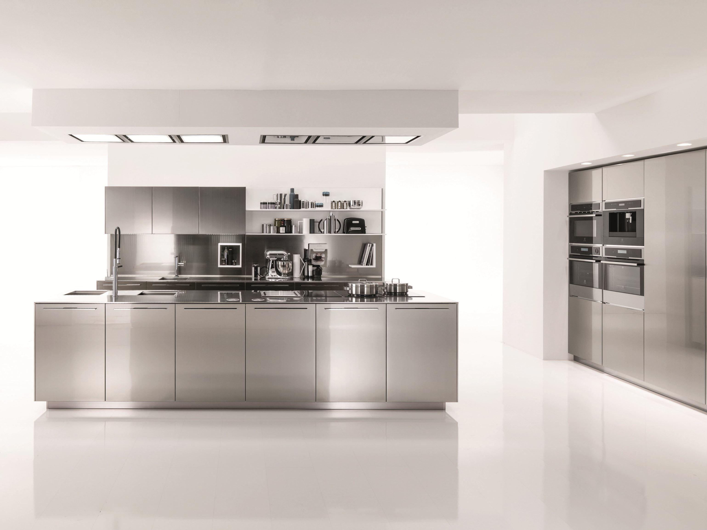 Küche aus Edelstahl FILOFREE STEEL By Euromobil Design Roberto Gobbo | {Edelstahlplatte küche 29}