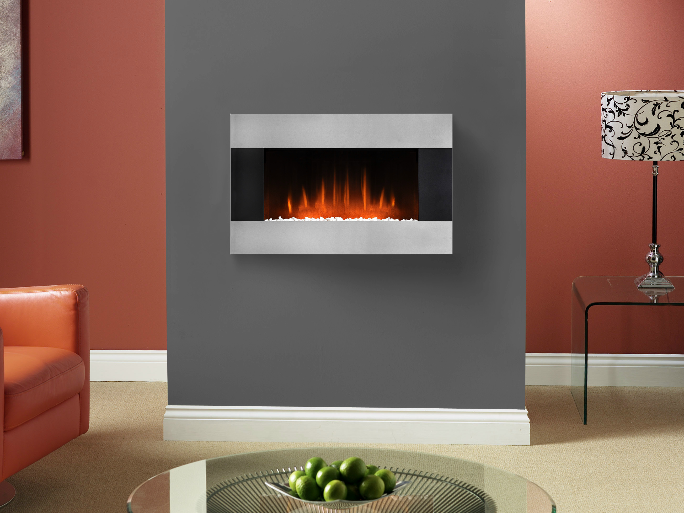electric wall mounted fireplace glaston by british fires