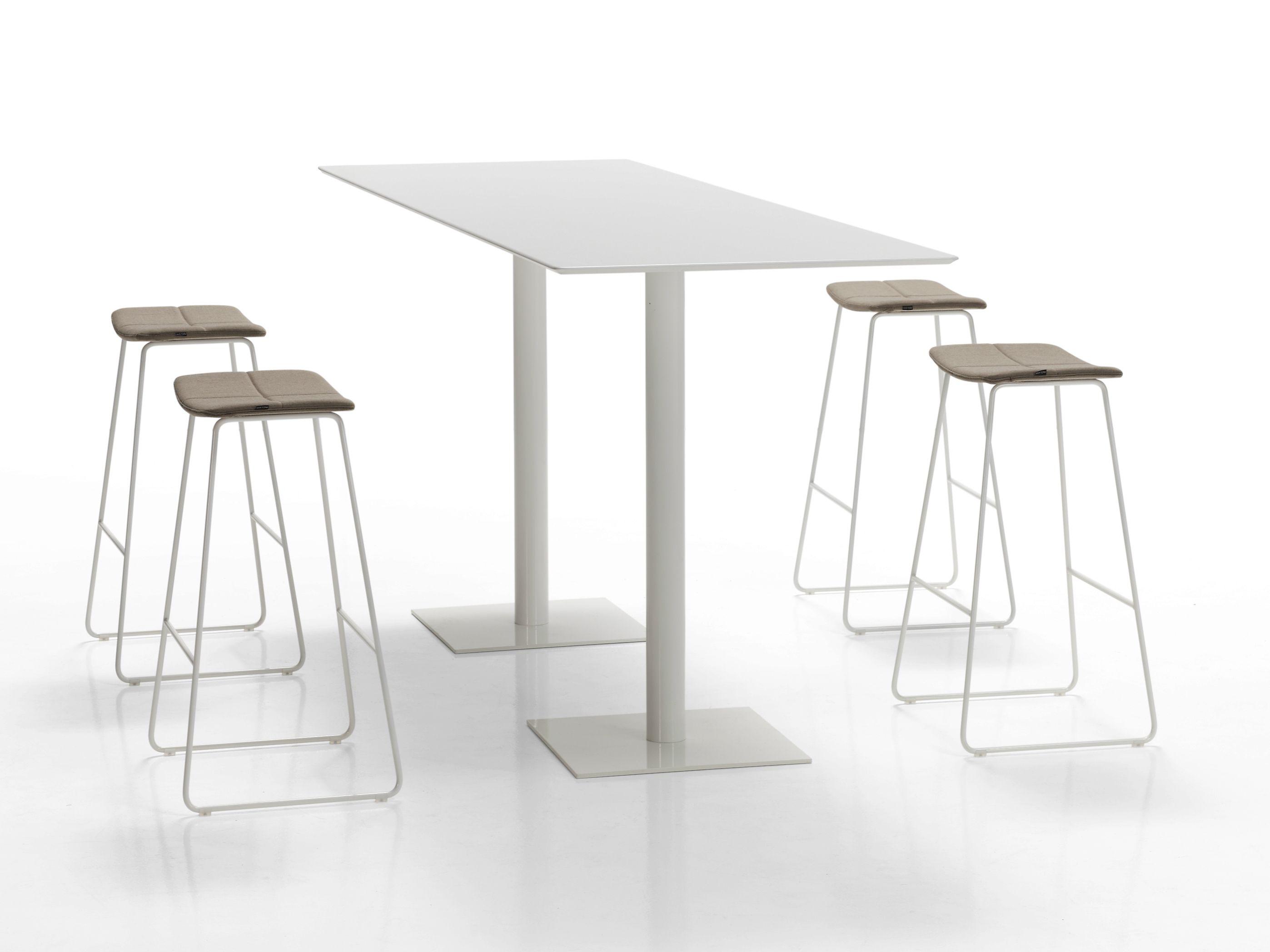 Flat table haute by inclass mobles - Table de bar rectangulaire haute ...