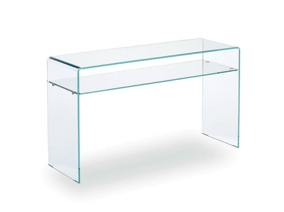 Rechteckiger konsolentisch aus glas hall with shelf by sovet italia - Glas konsolentisch ...