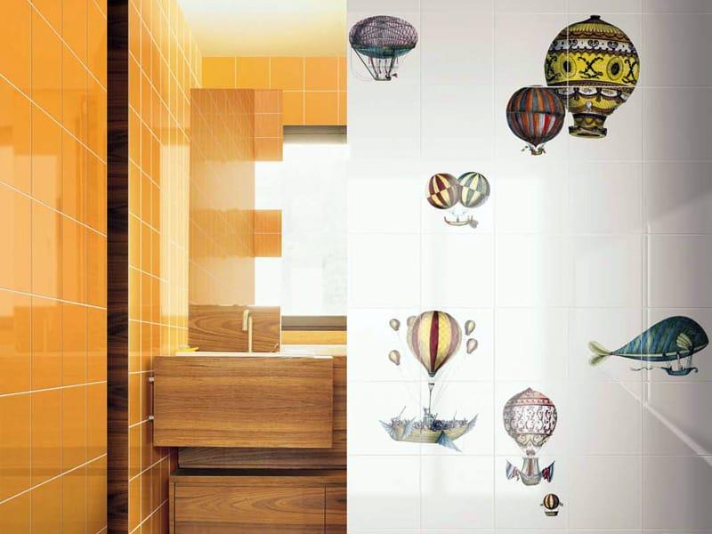 Rivestimento in ceramica macchine volanti by ceramica bardelli - Bardelli ceramiche bagno ...