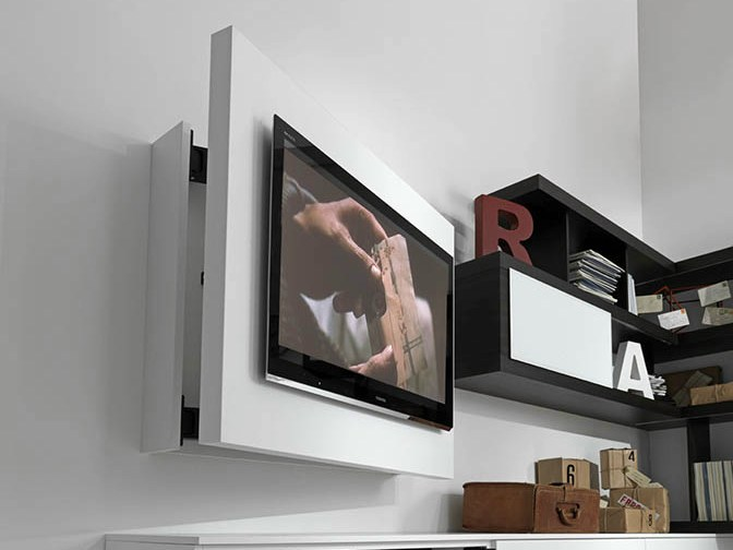 lacquered adjustable wall-mounted tv cabinet rack free by fimar - Soggiorno Fimar