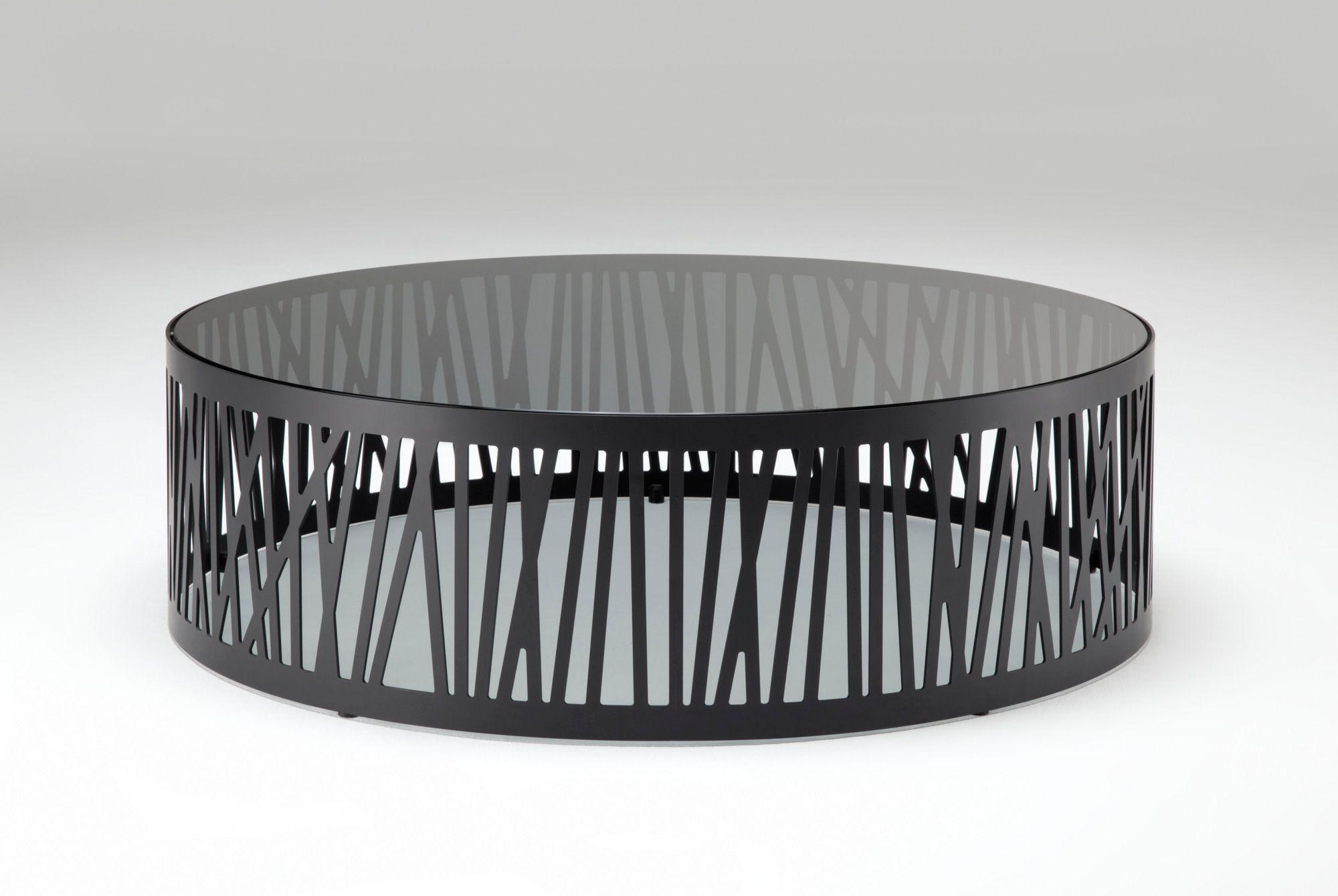 Round glass and steel coffee table ORION By Bonaldo design Jarrod Lim