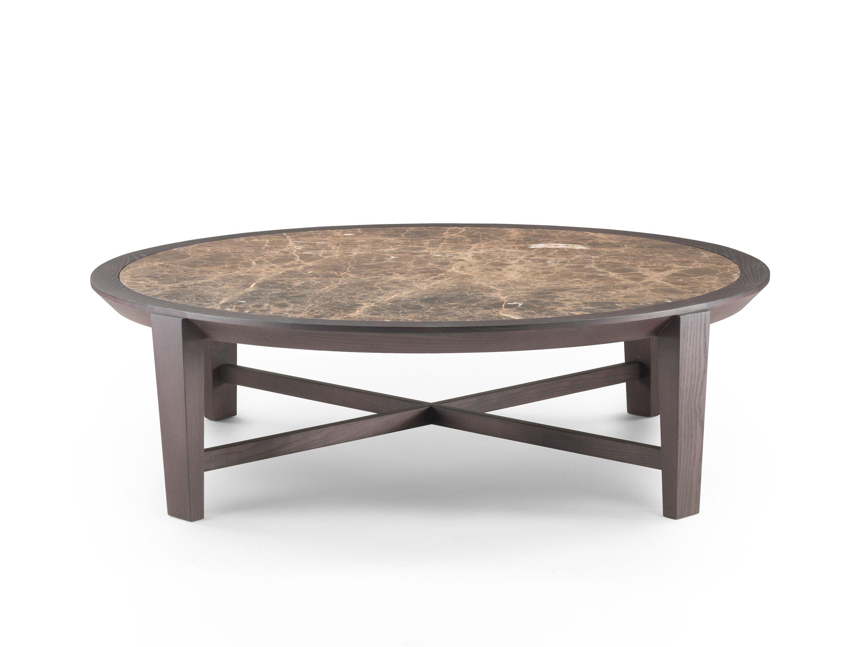 Round marble coffee table MONZINO By Tacchini design Franco Albini