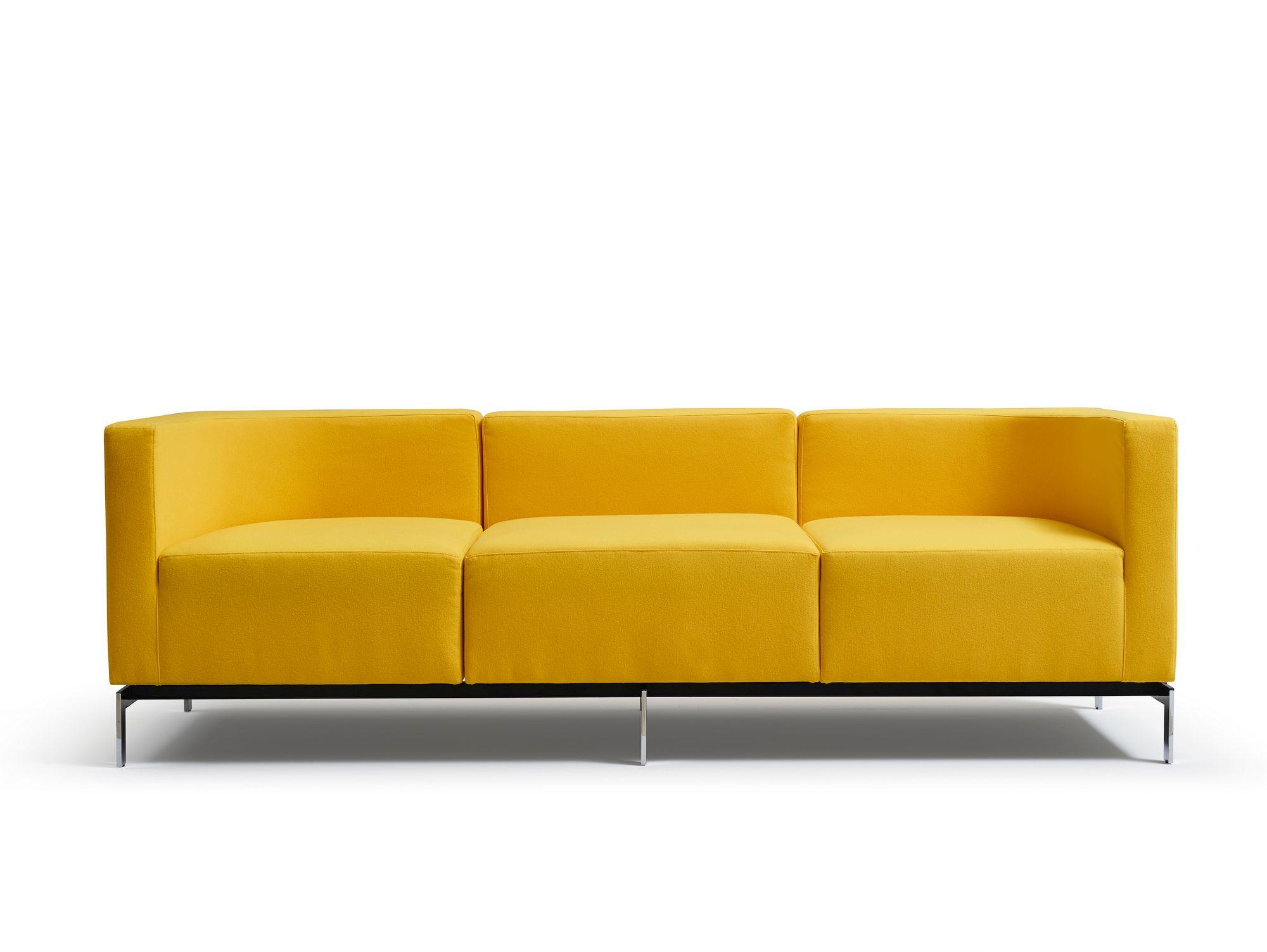 Sectional fabric leisure sofa MEGA By Quinti Sedute design