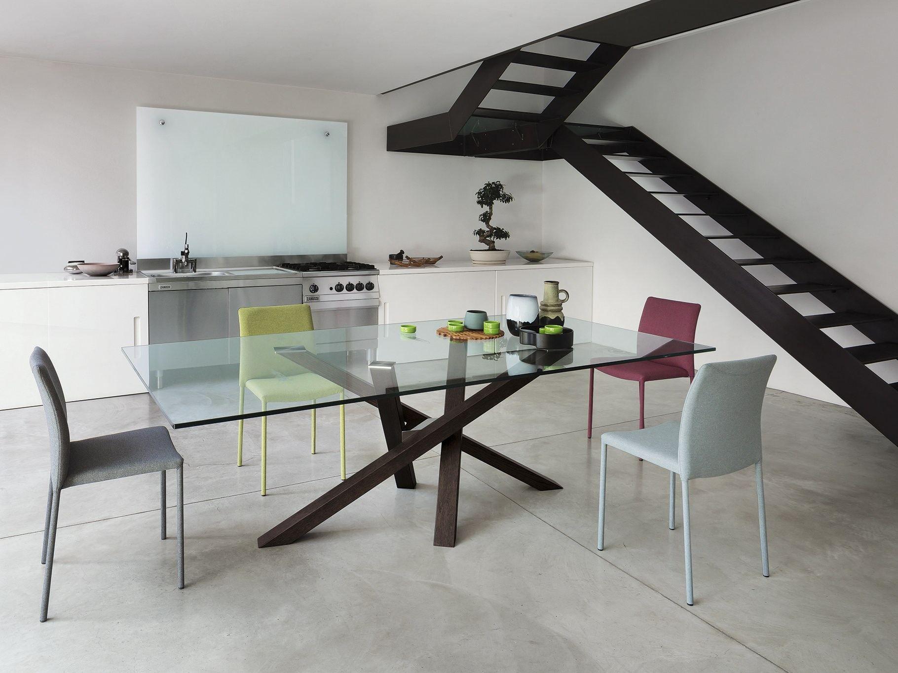 Tavoli in vetro da cucina tavoli legno design moderno - Epierre