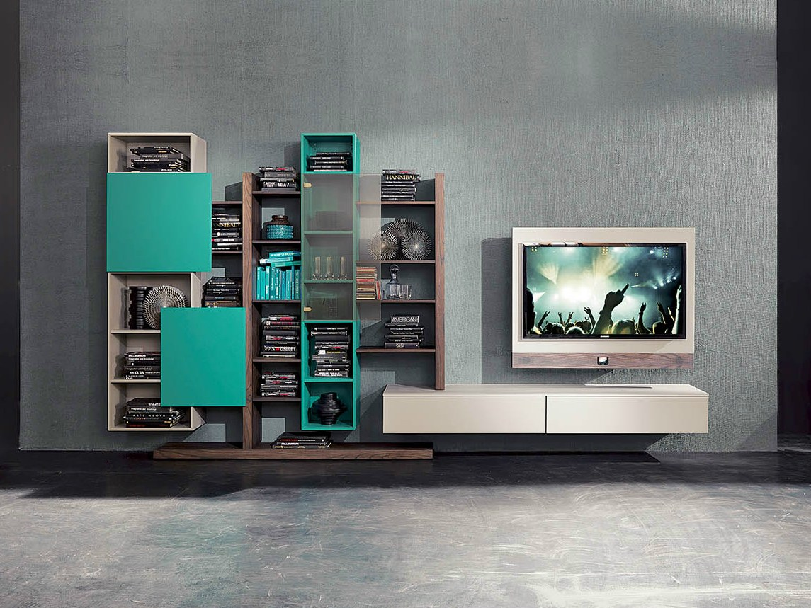 freestanding tv wall system side 14 by fimar - Soggiorno Fimar 2