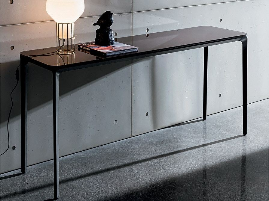 SLIM 4 LEGS | Glass console table - Domus