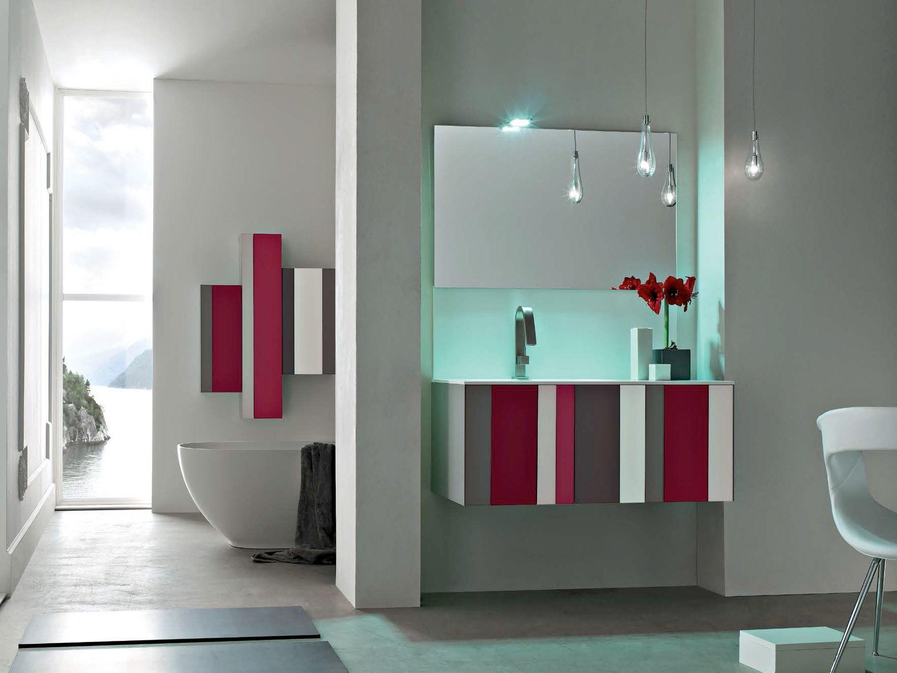 sistema bagno componibile spring - composizione 2 collezione ... - Arredo Bagno Arcom