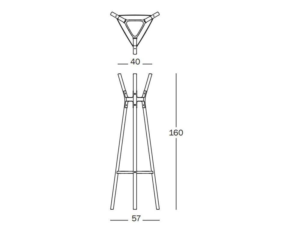 Dimensions STEELWOOD | Coat rack