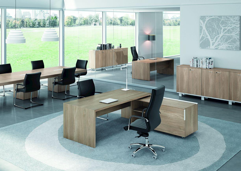 T45 office desk with shelves t45 collection by quadrifoglio for Quadrifoglio arredo ufficio