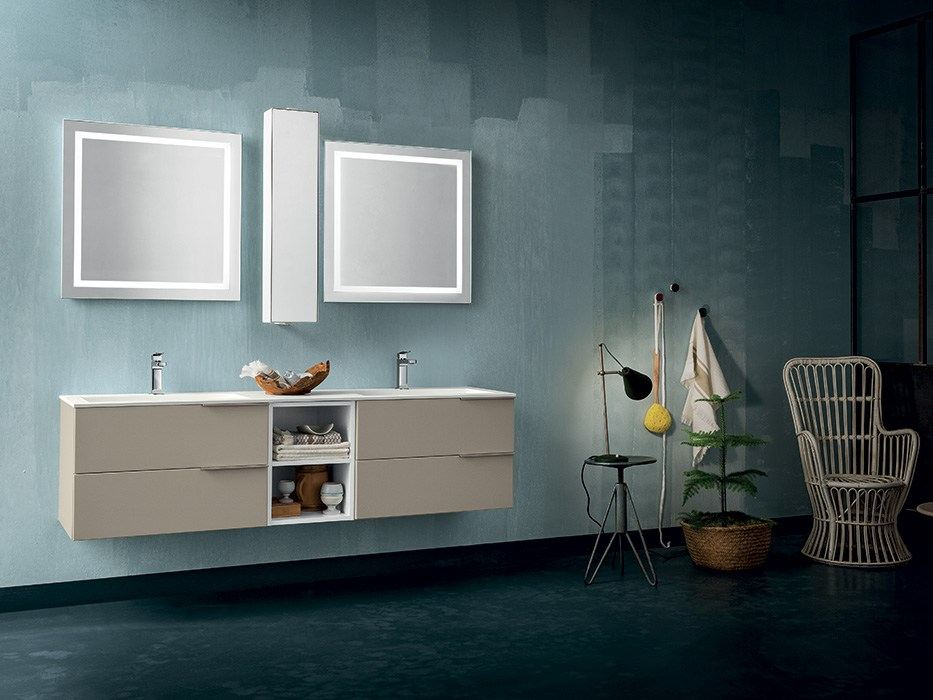 double vanity unit with drawers ab 7026 by rab arredobagno - Arredo Bagno Rab