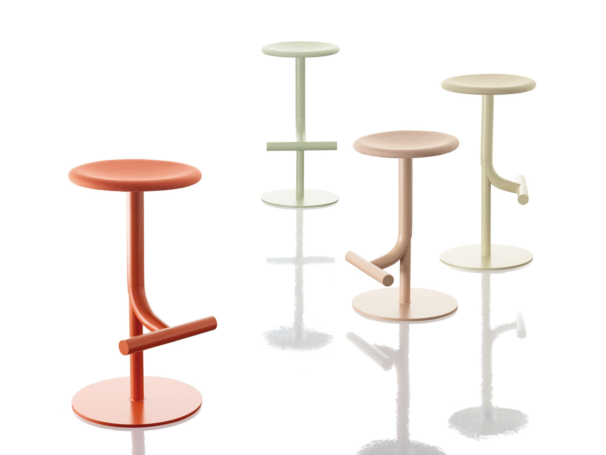 Swivel Stool With Gas Lift S.S.S.S. SWEET STAINLESS STEEL STOOL By Magis  Design Philippe Starck