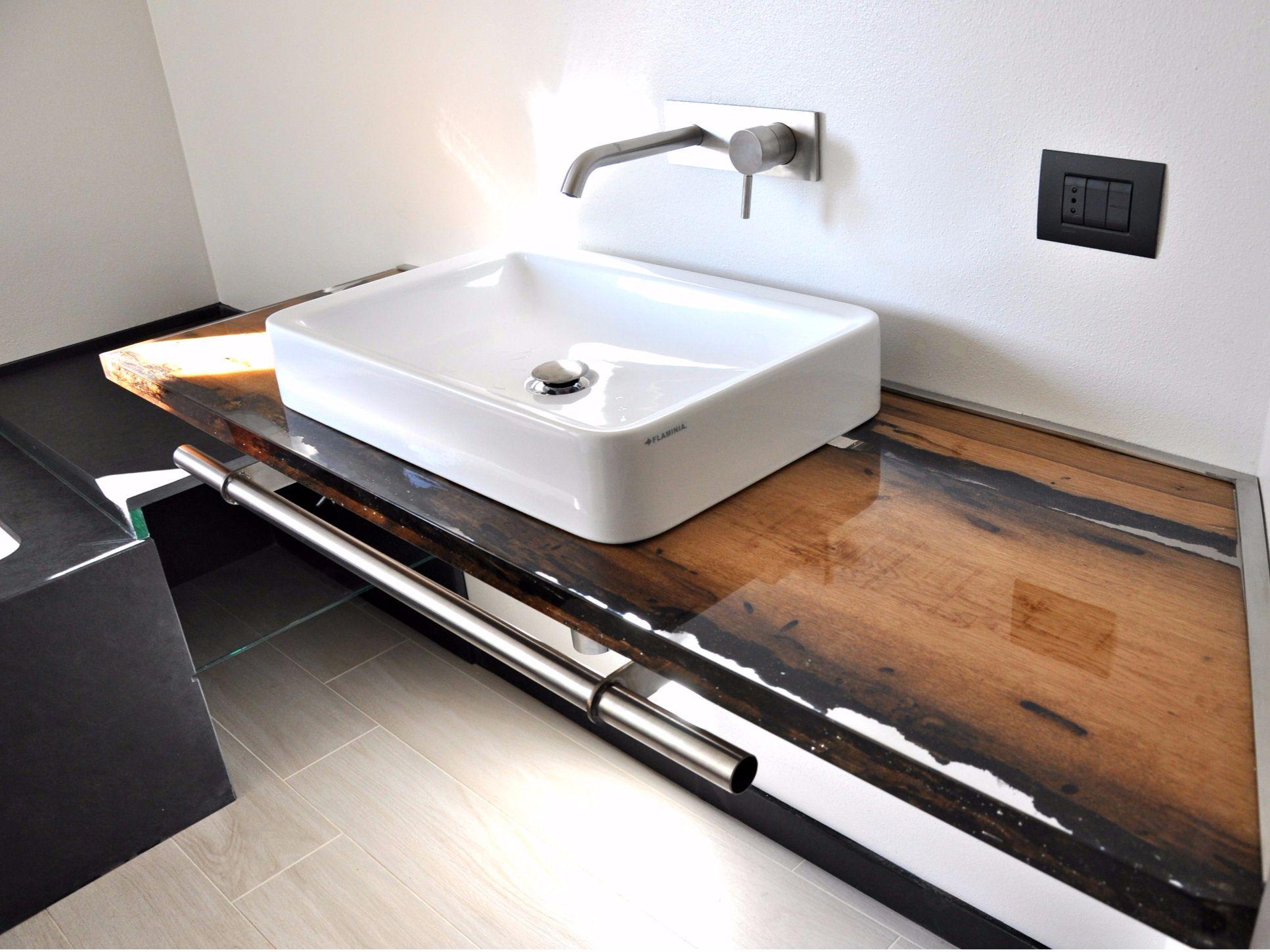 Awesome top in legno gallery - Piano lavabo bagno ...