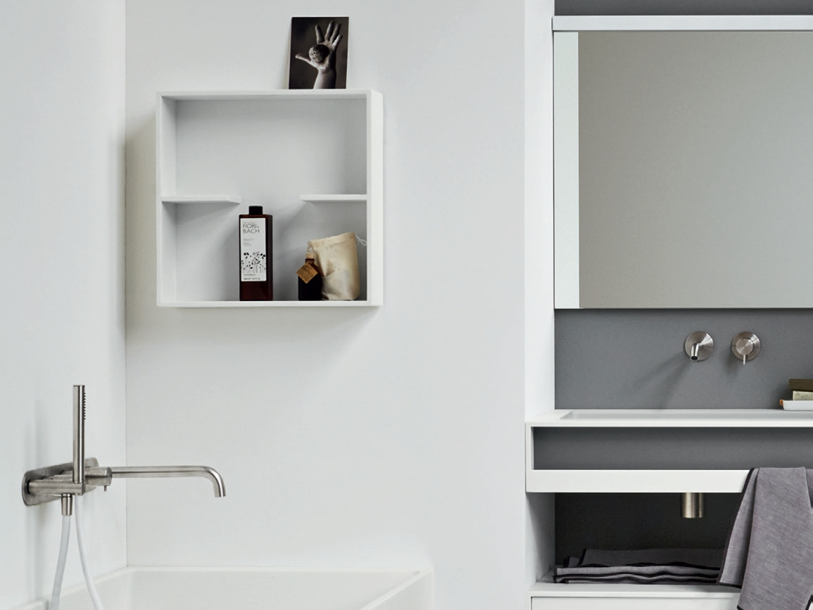 Bathroom wall shelf - Corian Bathroom Wall Shelf Unico Bathroom Wall Shelf Unico Collection By Rexa Design