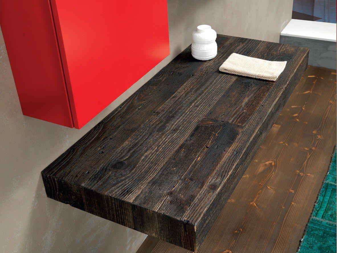 Plan de vasque bois collection open duambiance bain en mlamin coloris messina meuble sous - Plan vasque bois brut ...